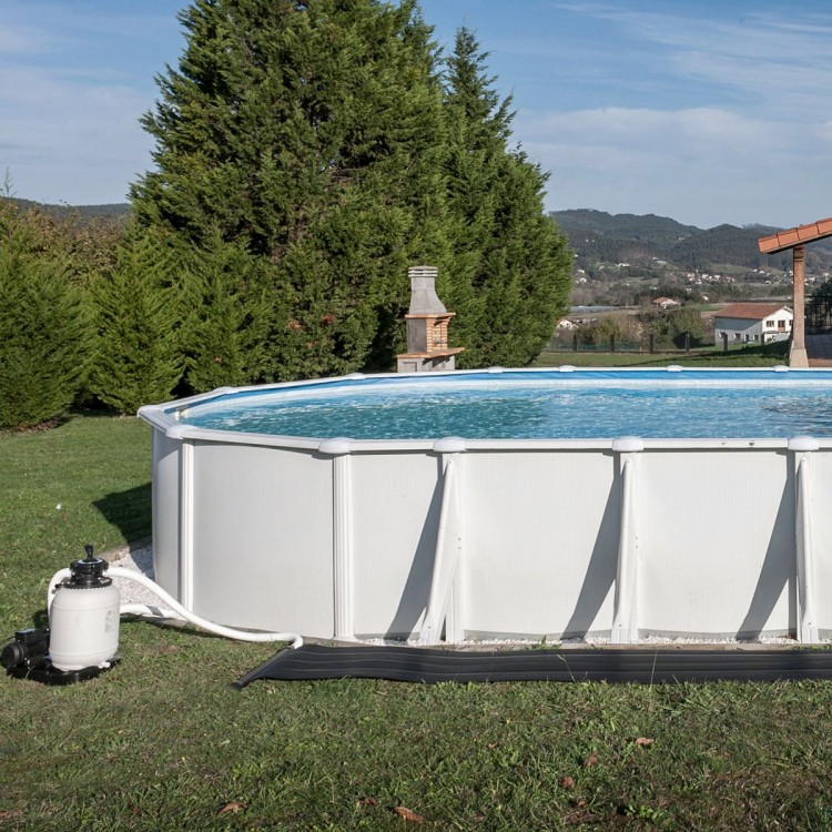 Preparación del terreno para piscina elevada