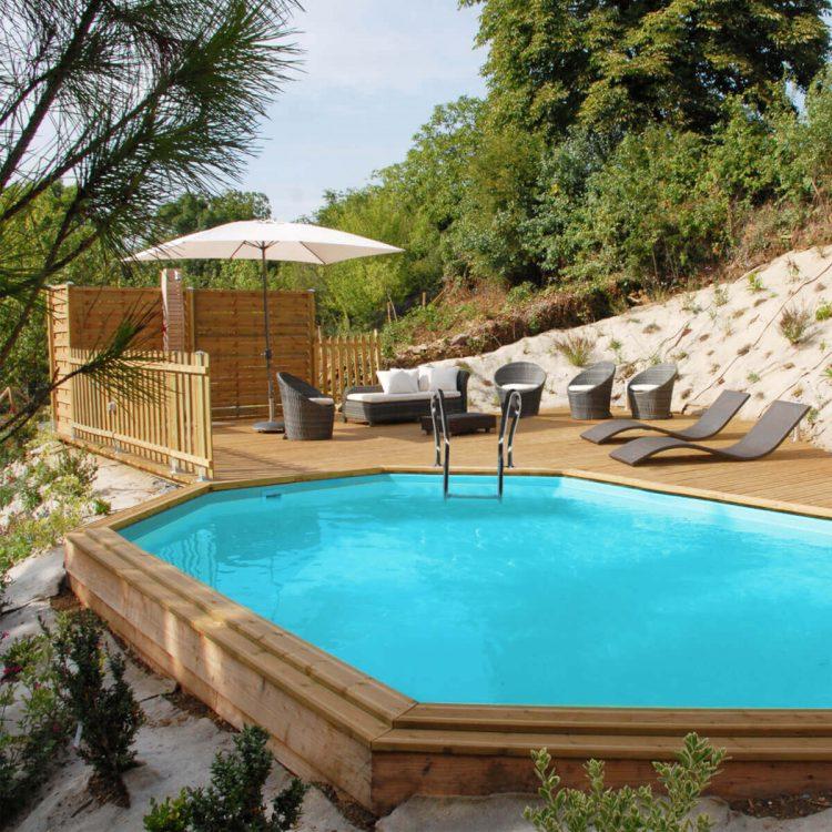 piscina madera enterrada gre