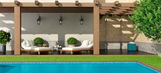 ideas to decorate around the pool