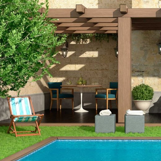 Ideas to decorate around the swimming pool