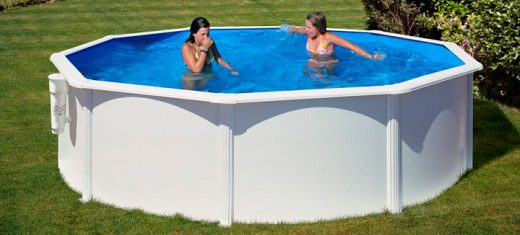 piscina redonda de acero blanco bora bora