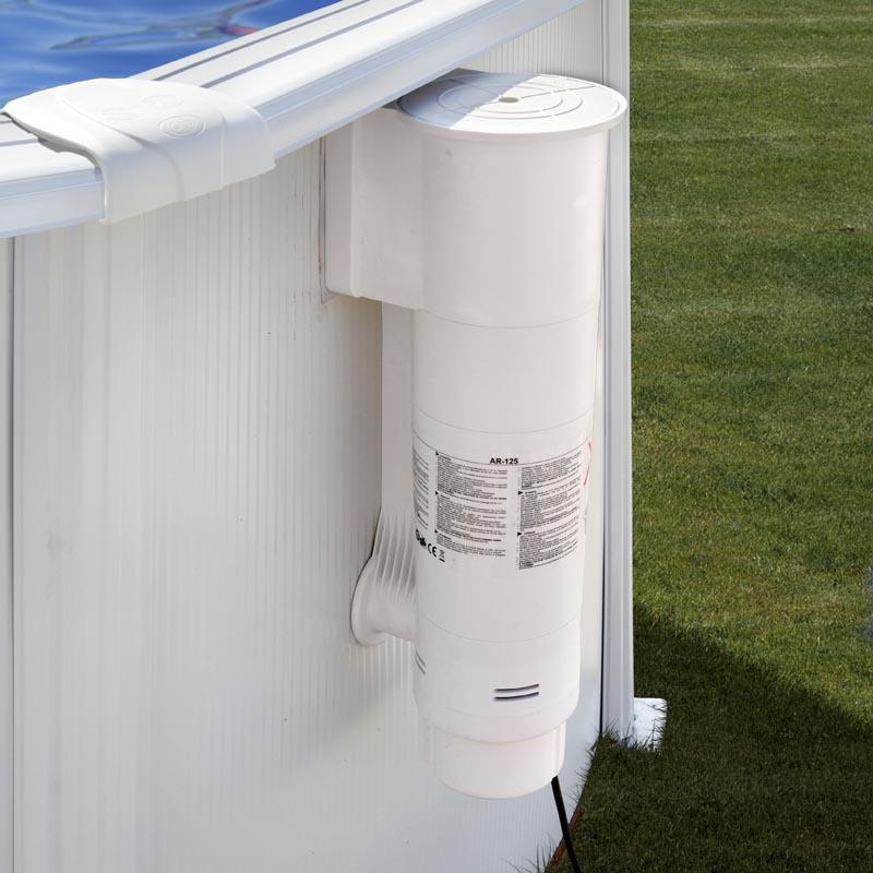white cartridge pool filter