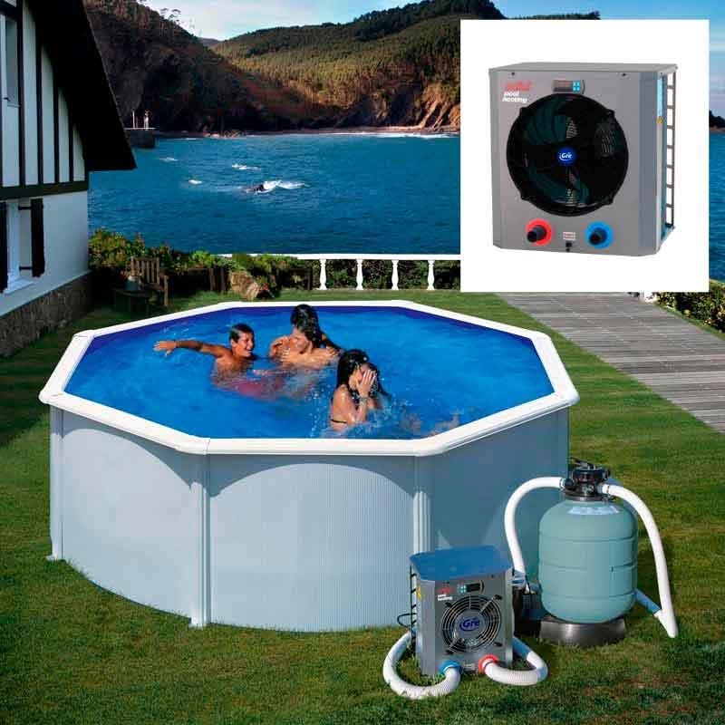 mini heat pump for wall pools