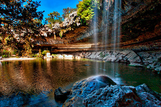 One of the best natural pools: Hamilton Pool in Texas