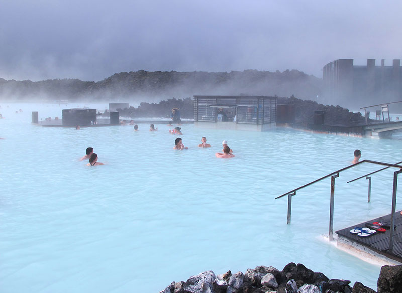 One of the best natural pools: Blue Lagoon in Iceland