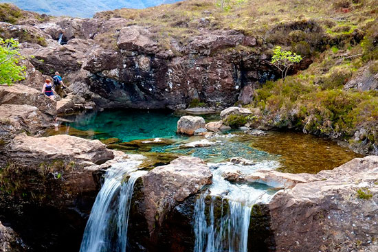 One of the best natural swimming pools: Fairy Pools in Scotland