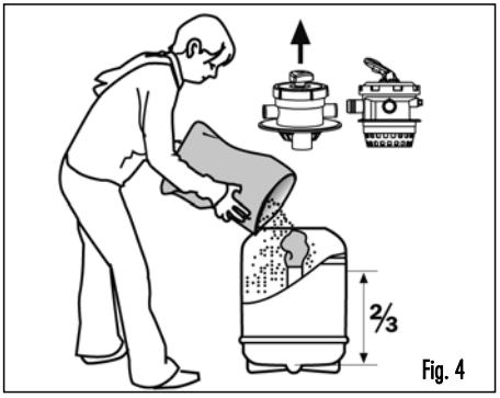 añadir arena a la depuradora de piscinas