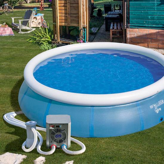 bomba de calor mini de Gre para piscinas