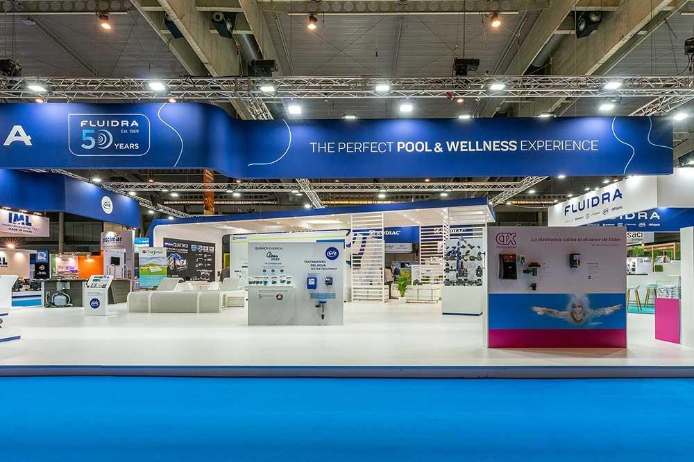 Stand Fluidra en Feria Piscina&Wellness Barcelona 2019