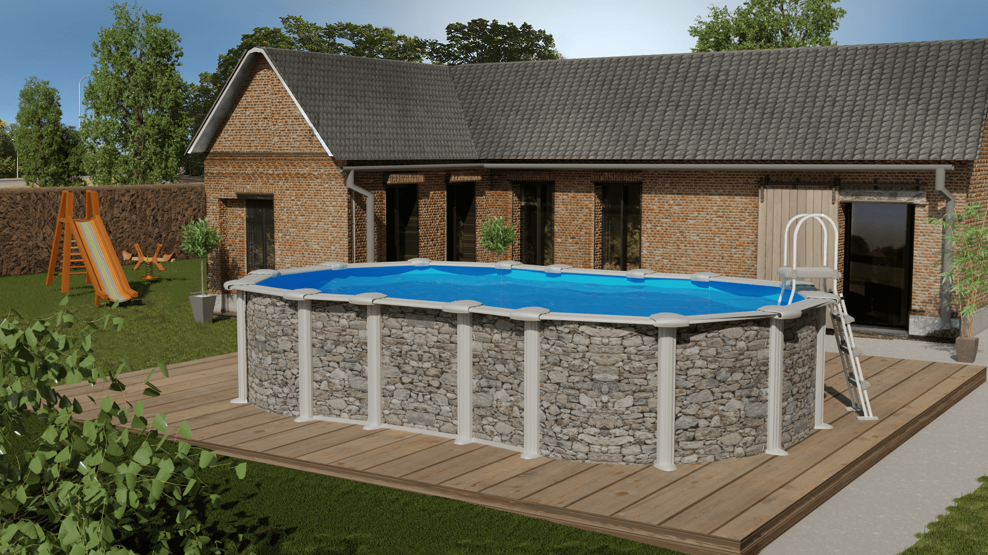 piscina-ovalada